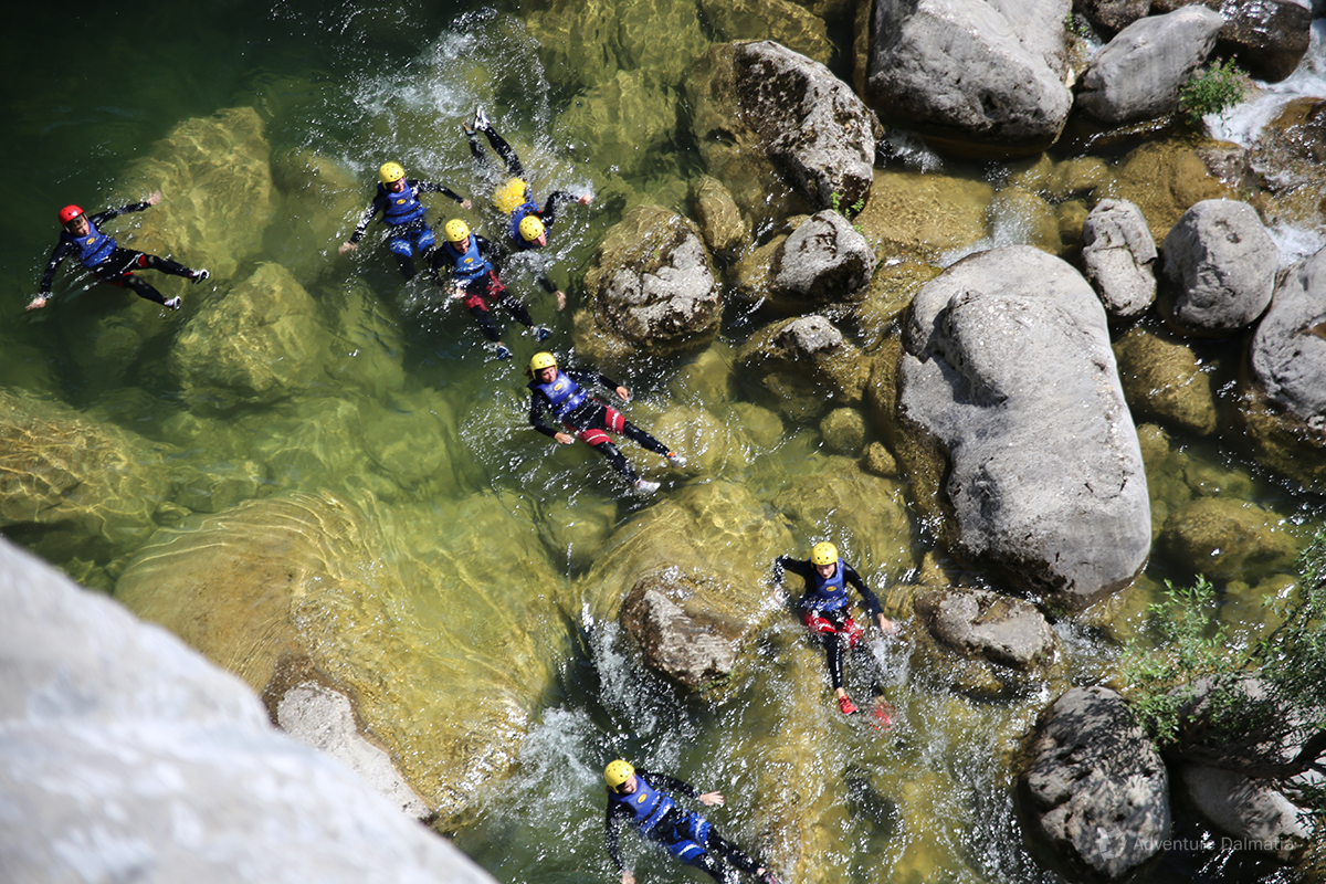 Sliding down the Cetina river