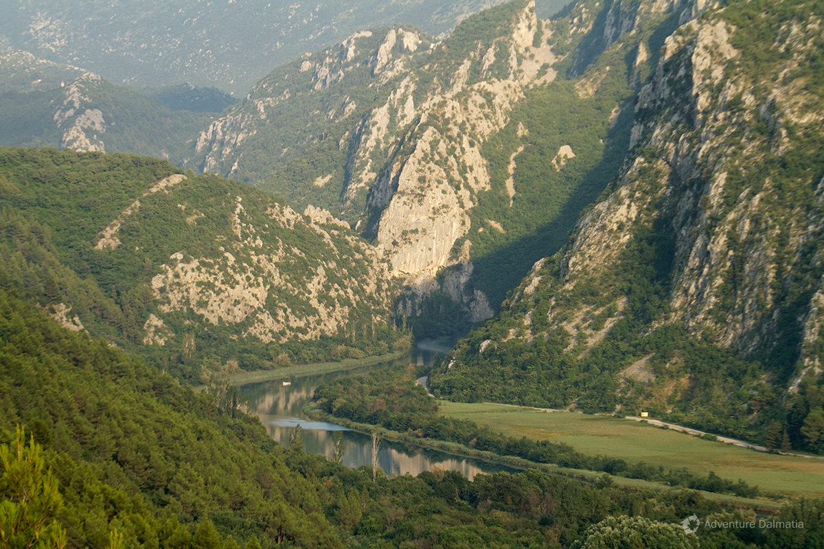 Cetina river canyon.