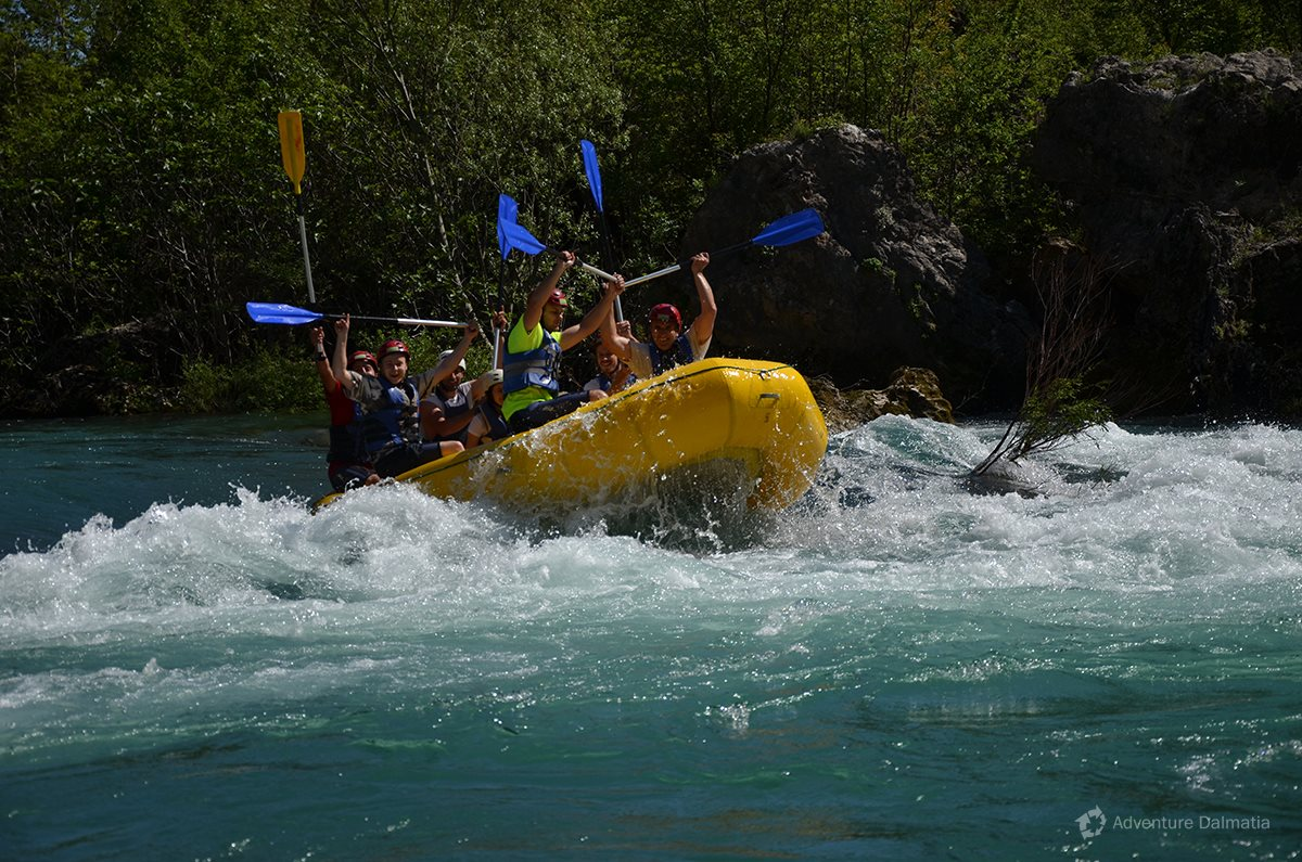 Rafting is level 2 and 3 during the summer season