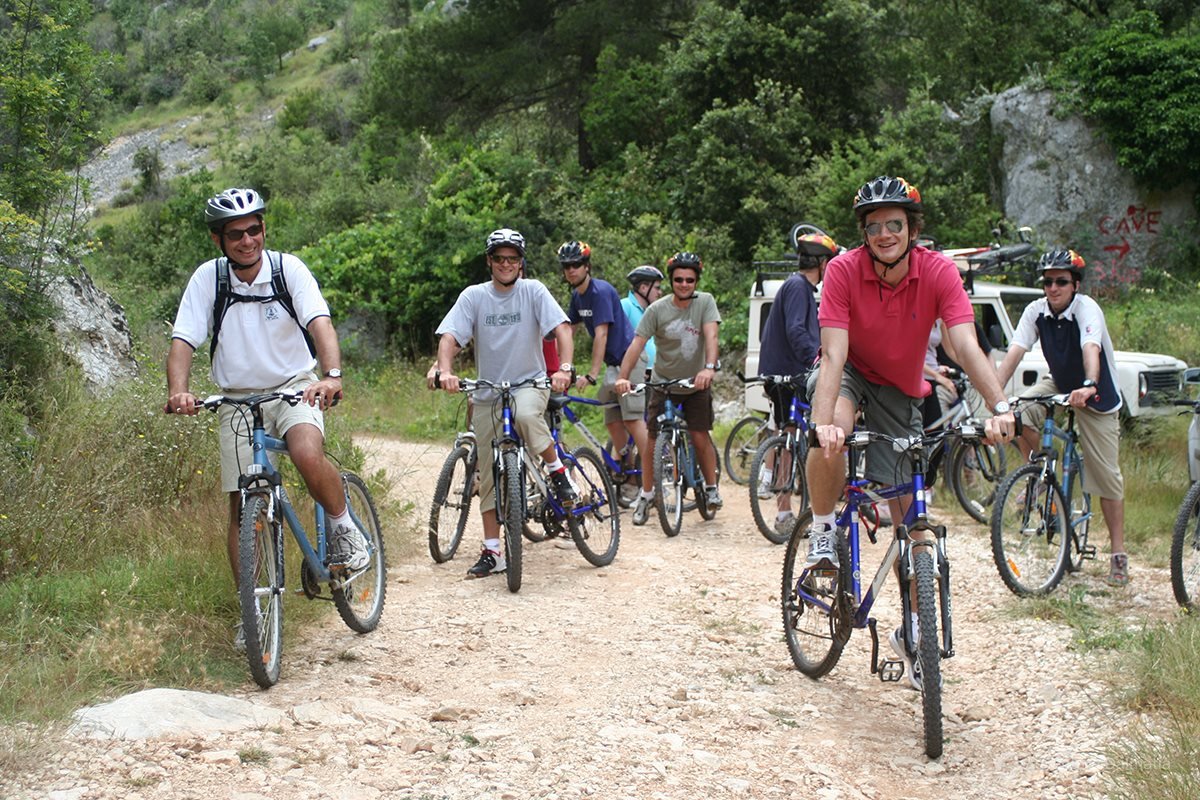 Biking to the highest peek of island Hvar