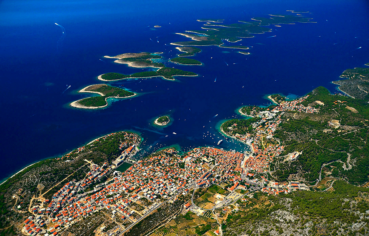 Pakleni islands and Hvar Town