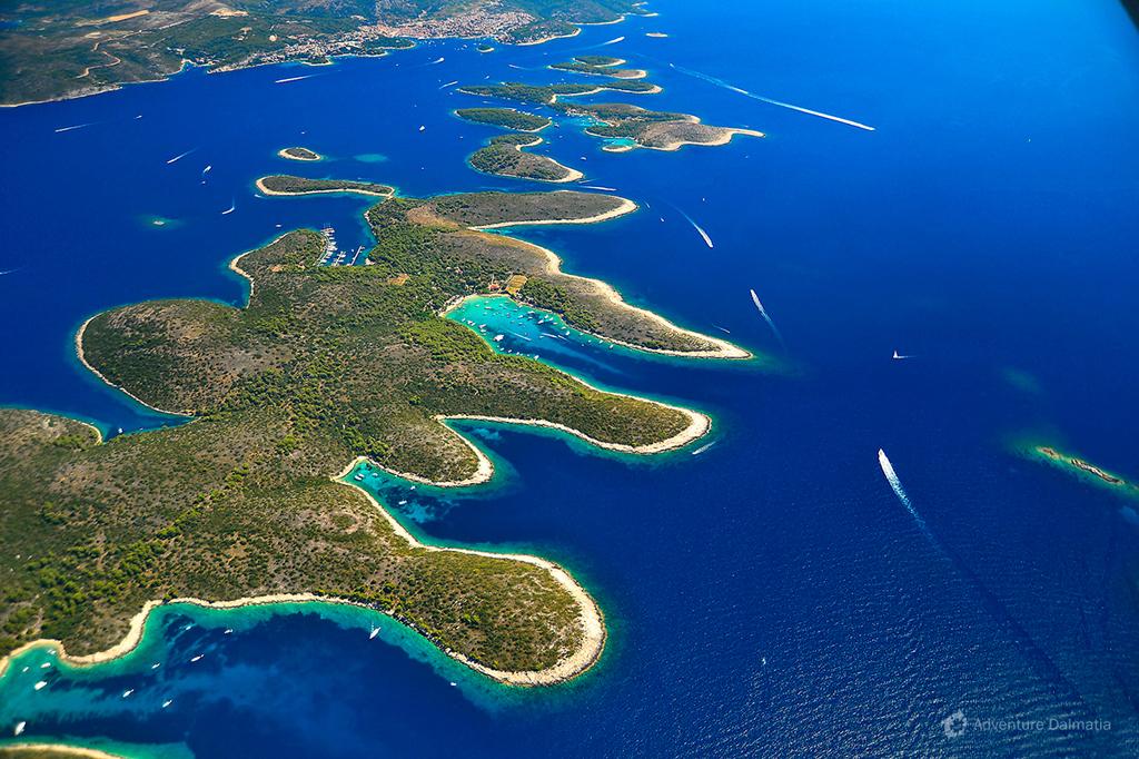 Pakleni islands and the city of Hvar.