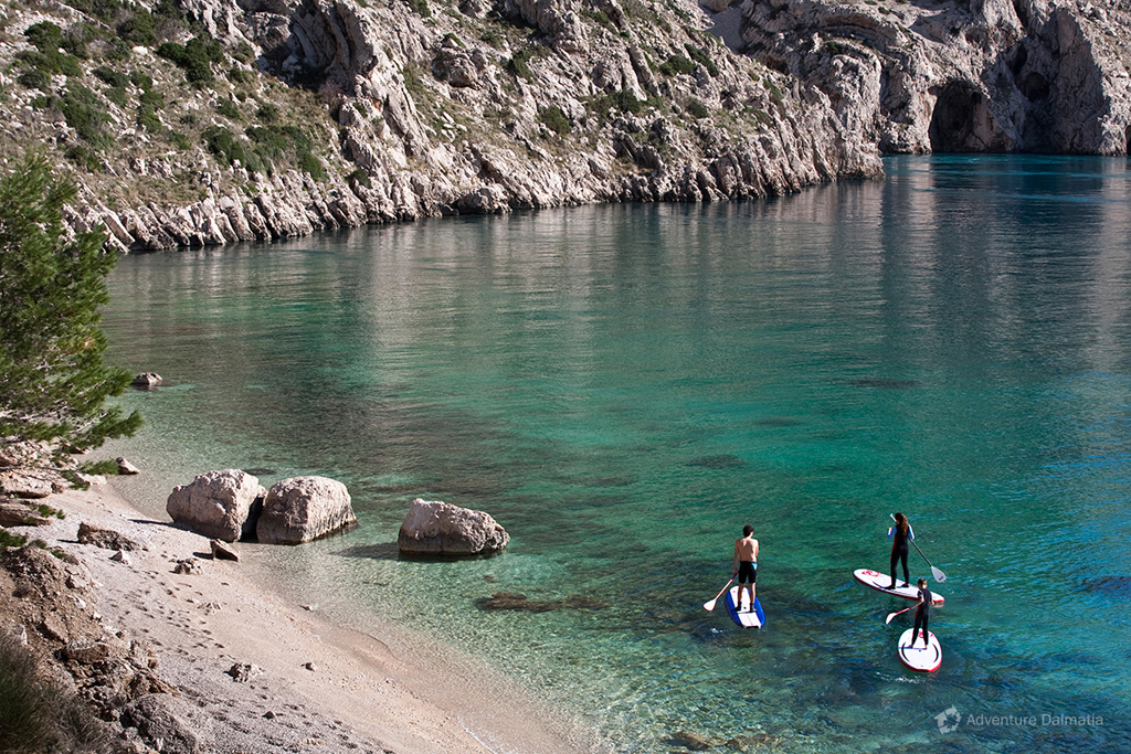 Paddling break near Vrulja cove in Brela