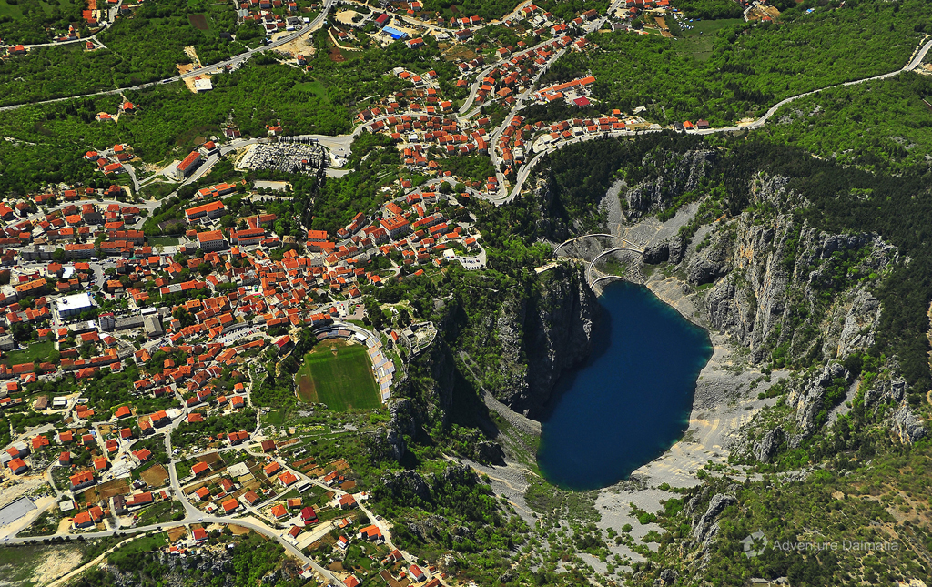 Blue Lake, city of Imotski
