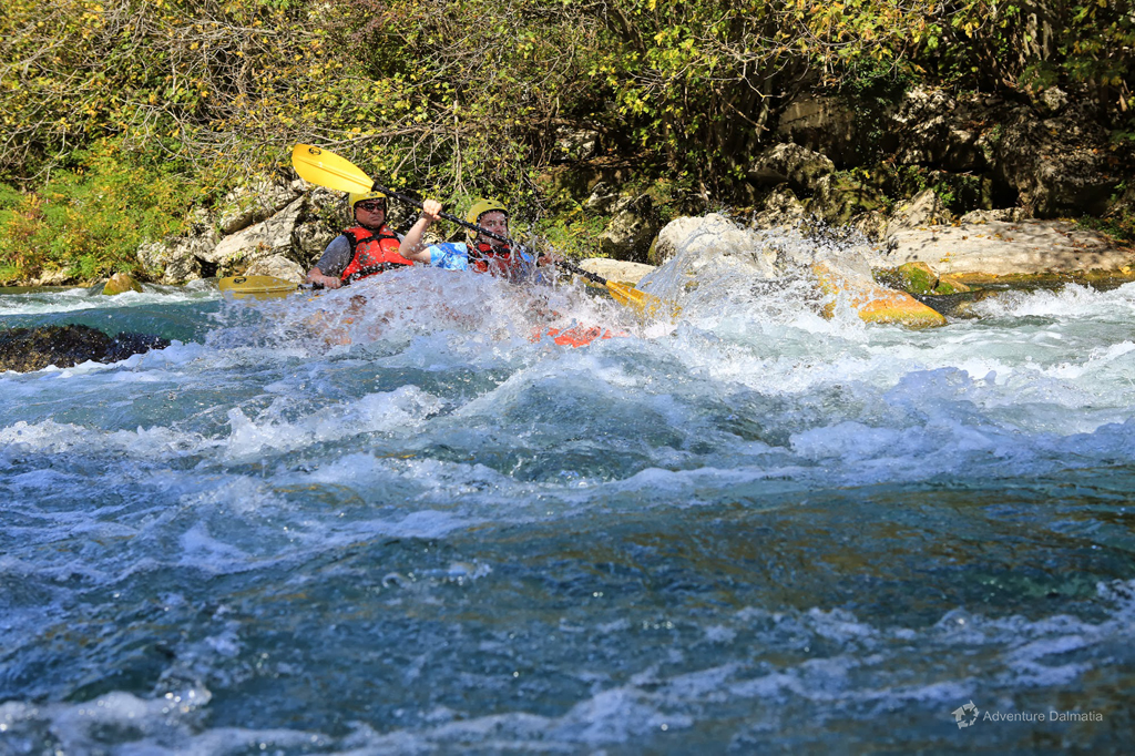 Canoe Safari on Cetina River - making your way through the rapids