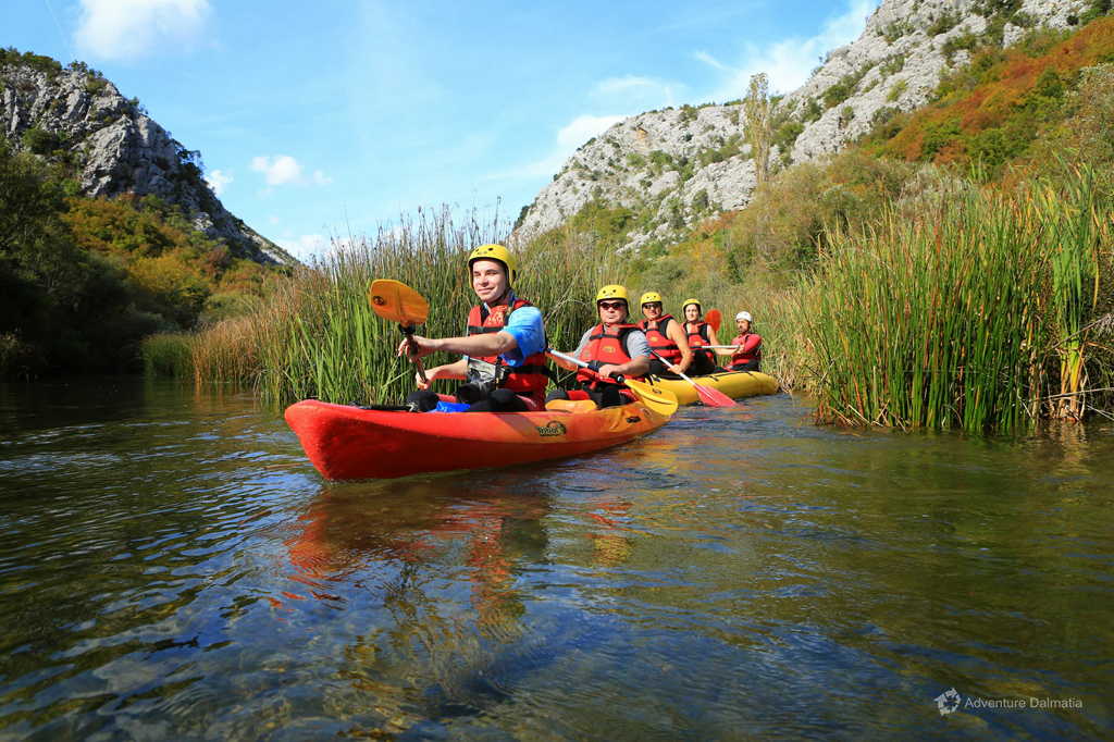 Canoe Safari on Cetina River - smelling the mint