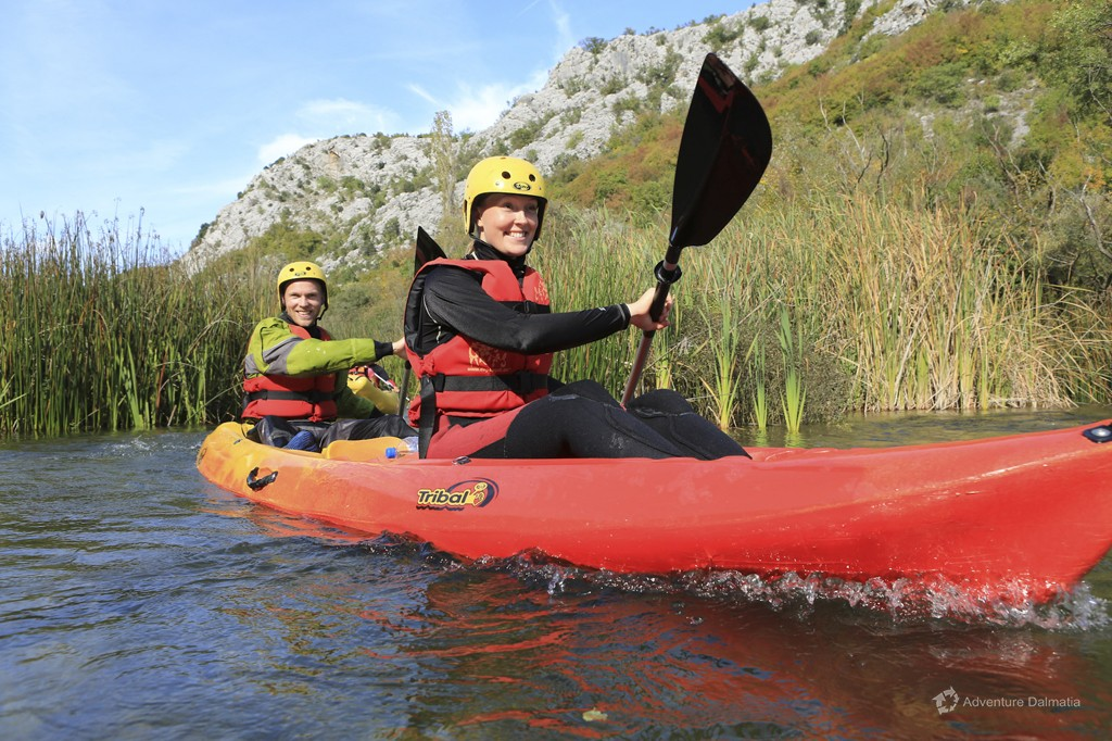 Canoeing on Cetina river