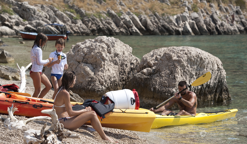 Great family activity near the city of Split