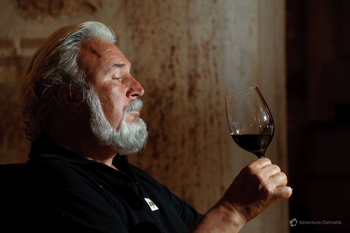 Andro Tomić, famous wine maker from Hvar island