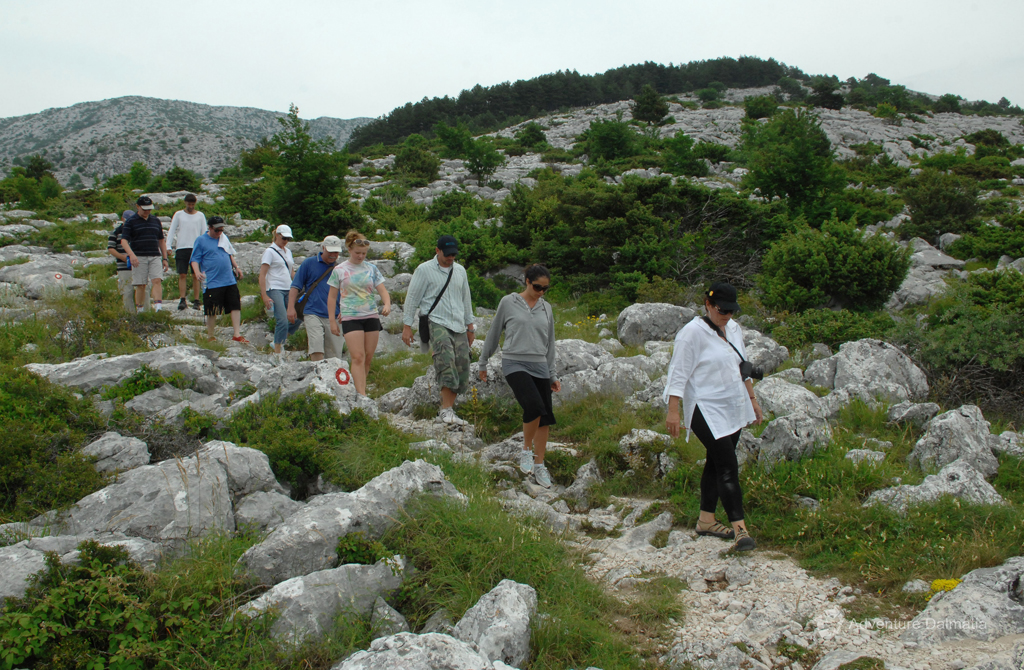Hiking on Mosor close to the city of Split