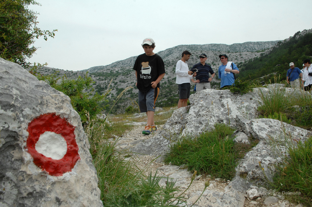 Hiking tour on Mosor near Split