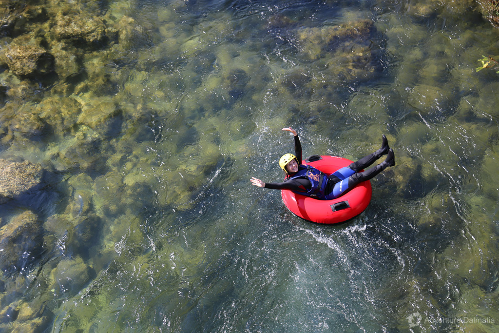 RIver tubing on Cetina river with Adventure Dalmatia