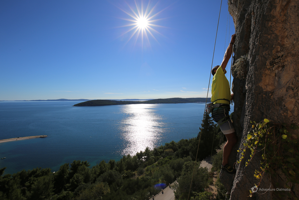 Rock climbing in Split. Take only pictures, leave only fingerprints.