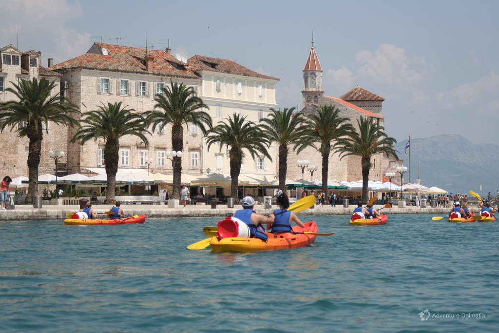 Kayaking around Trogir. The core of the city is under UNESCO's protection