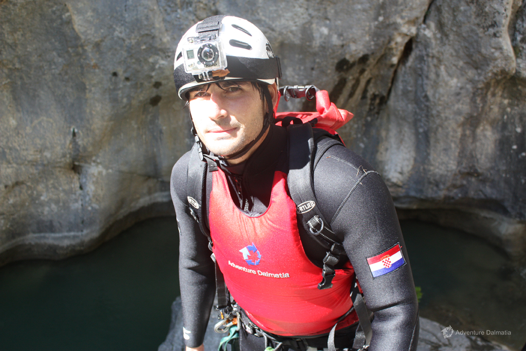 Our guide on a Canyoning tour Badnjevica