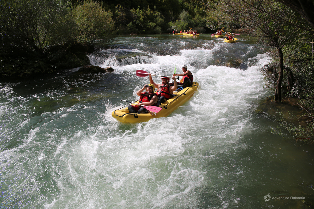 Our guides will make sure you have a great time, Adventure Dalmatia rafting tour