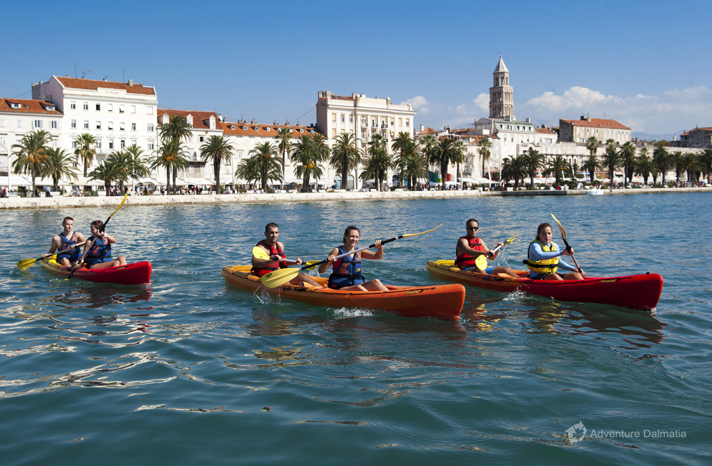 Our kayaking tour start is just 5 minutes from the city center