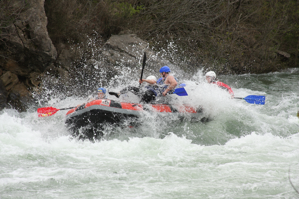 Rafting after summer season on Cetina river, higher intensity and more excitement