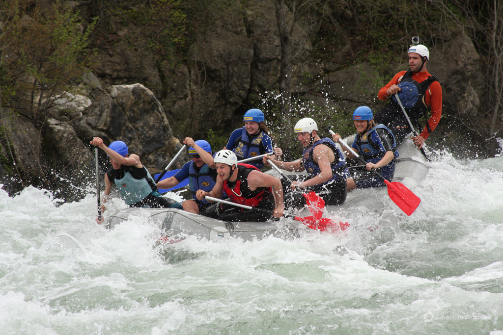 Real Rafting adventure during winter near cities of Split and Omiš