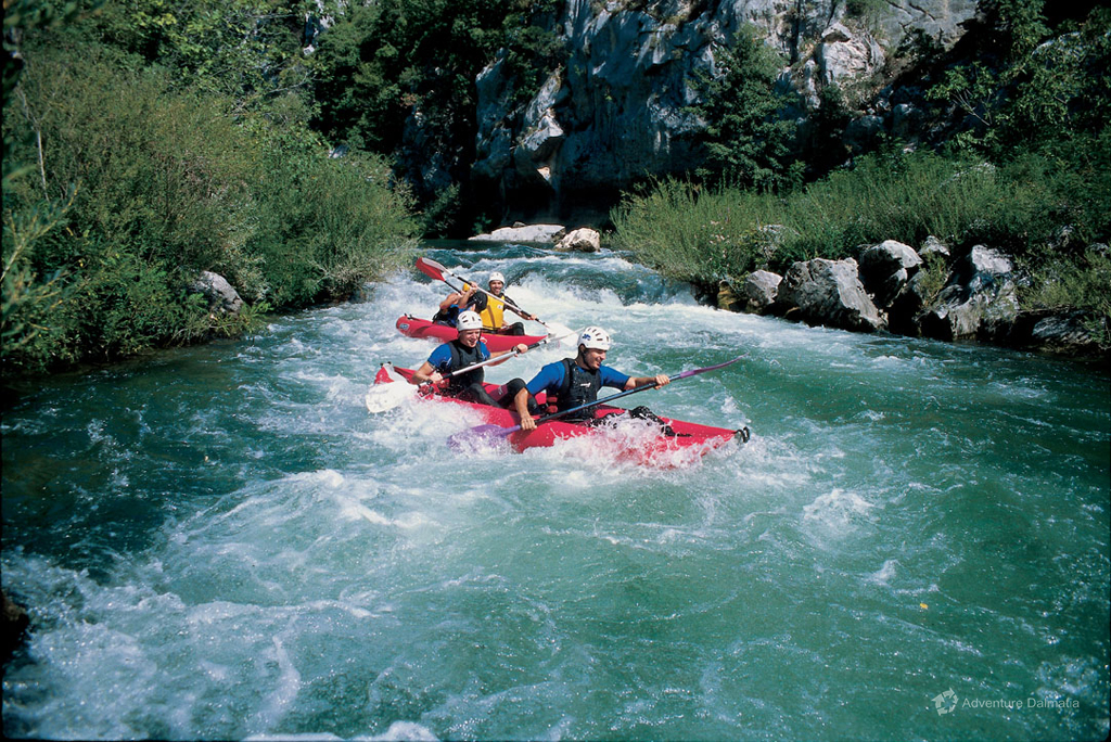 River Canoe Day Trip in Central Dalmatia with Adventure Dalmatia on the Cetina River