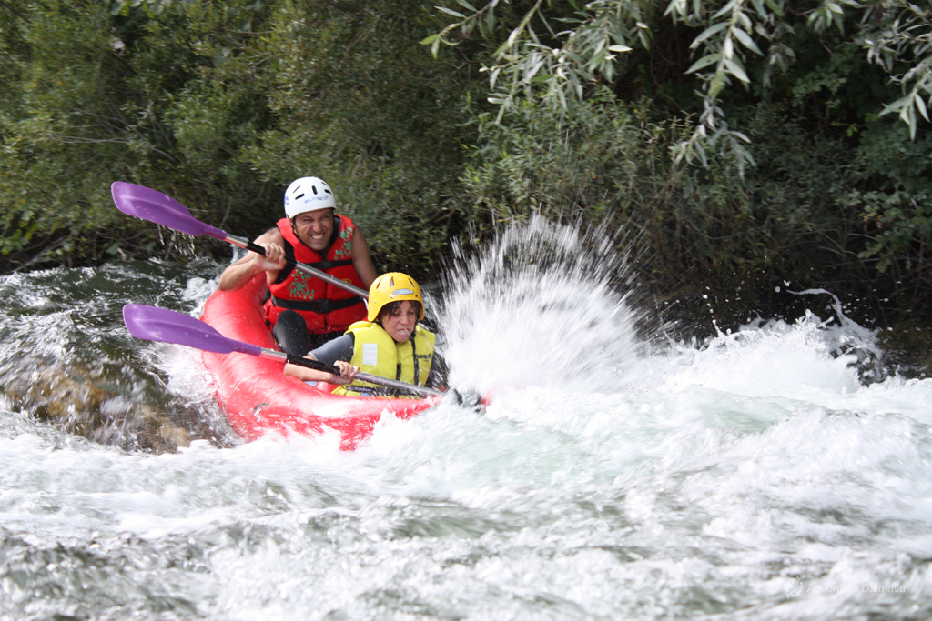 River canoe day trip - Rapids near the Šarić waterfall