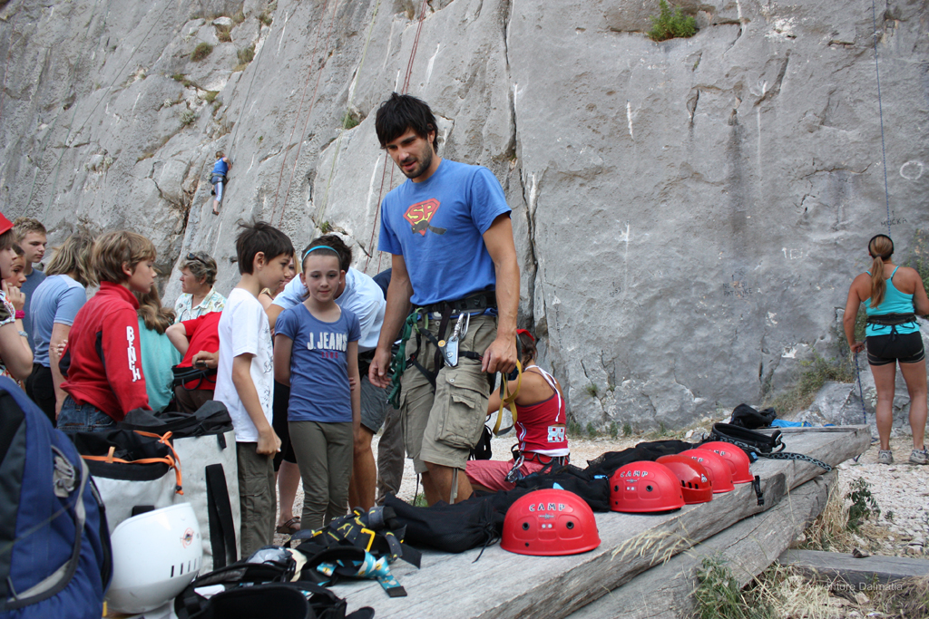 Rock climbing activity in Omiš can be adjusted for ages and climbing experience