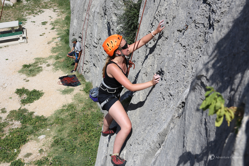 Rock climbing in town Omiš near Split