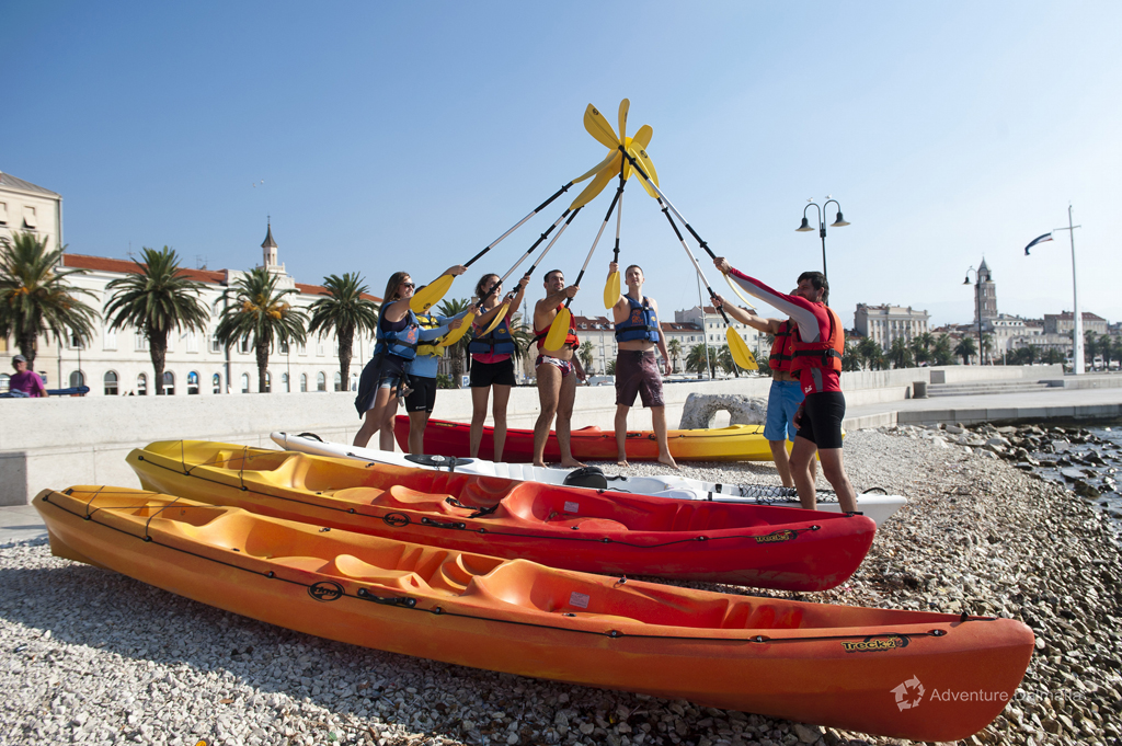 Split kayaking tour from Matejuska beach near the promenade, departures every day